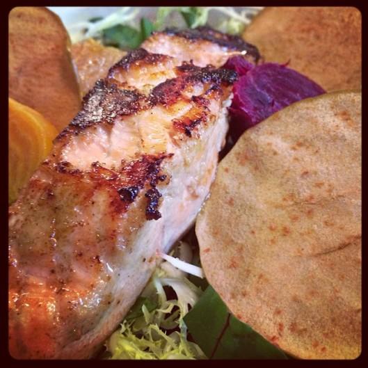 salmon salad autumn